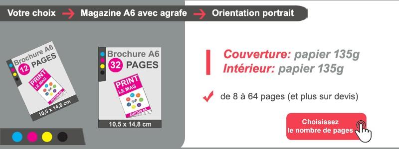 Magazine A6 couv + intérieur papier 135g