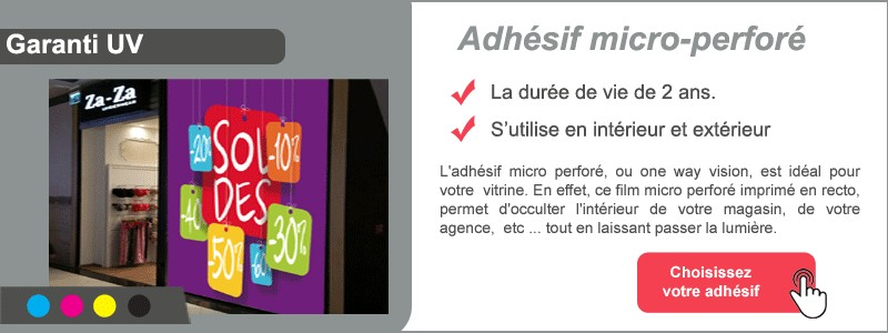 Adhésif vitrine micro perforé