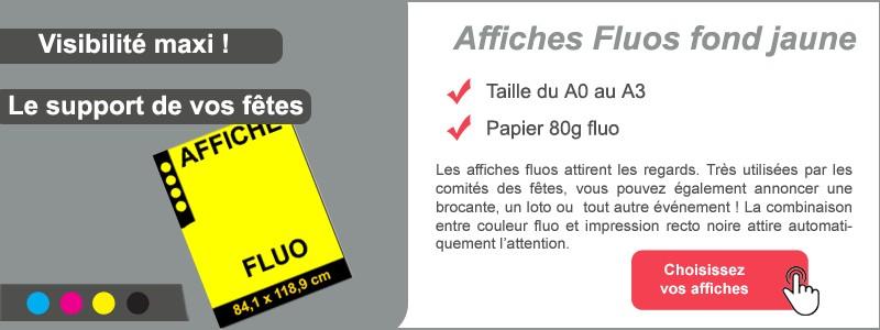Affiches FLUO jaune