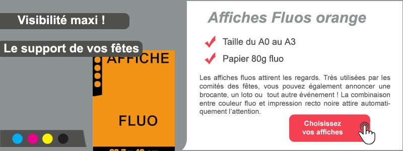 Affiches FLUO orange