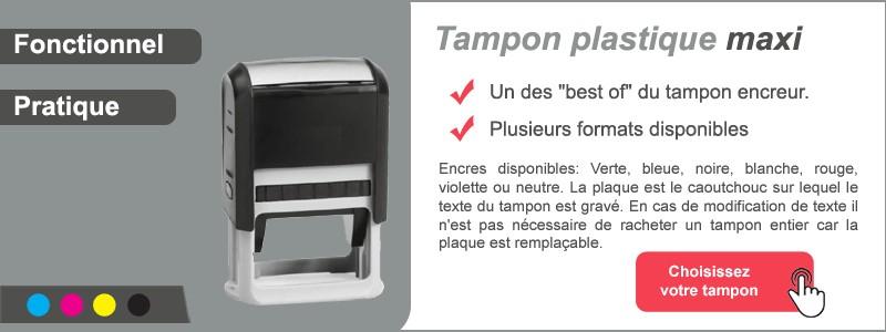 Tampon plastique maxi