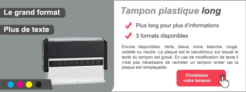 Tampon plastique long