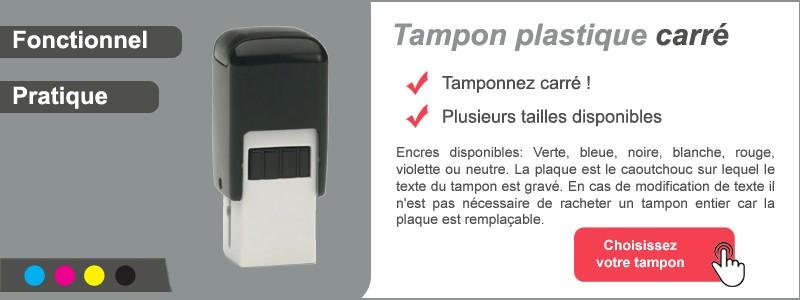 Tampon plastique carré