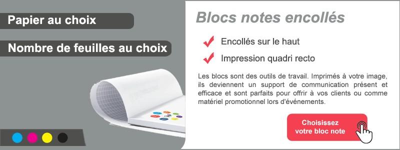 Blocs notes encollés
